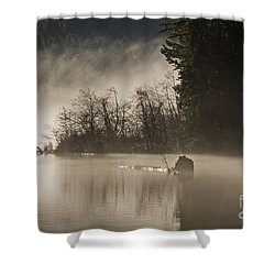 Shower Curtain featuring the photograph Westwood Lake by Inge Riis McDonald