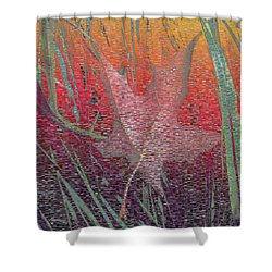Wet And Wild Autumn Shower Curtain by Tim Allen