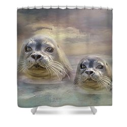 Wet And Wild Shower Curtain by Wallaroo Images