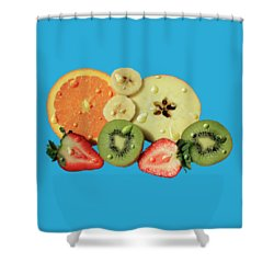 Shower Curtain featuring the photograph Wet Fruit by Shane Bechler