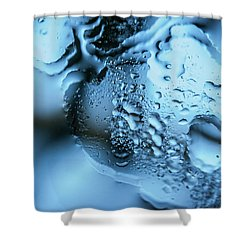 Shower Curtain featuring the photograph Wet Mirror Abstract by Jenny Rainbow