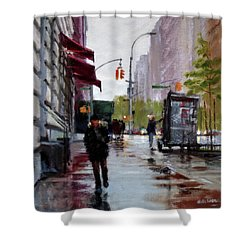 Wet Morning, Early Spring Shower Curtain by Peter Salwen