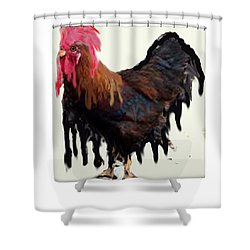 Wet Rooster Shower Curtain Shower Curtain