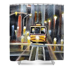 Wet Tram California Shower Curtain