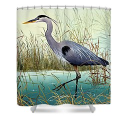 Shower Curtain featuring the painting Wetland Beauty by James Williamson