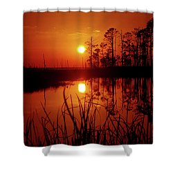 Shower Curtain featuring the photograph Wetland Sunset by Robert Geary