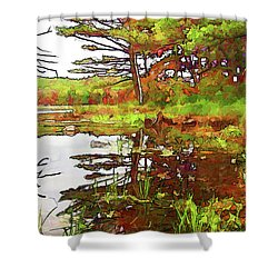 Shower Curtain featuring the photograph Wetland Transition by Betsy Zimmerli