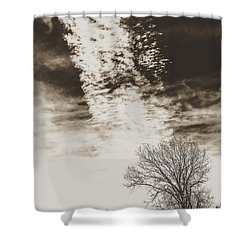 Wetlands Meet Chemtrails Shower Curtain