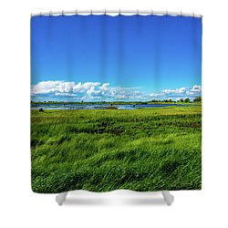 Wetlands On A Windy Spring Day Shower Curtain