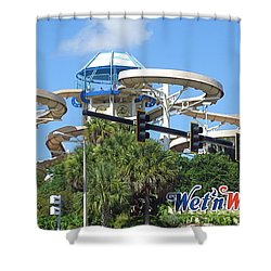 Wet'n Wild Ride. Orlando, Fl Shower Curtain