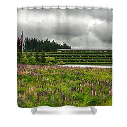 Shower Curtain featuring the photograph Weyerhaeuser Headquarters by Dan McManus