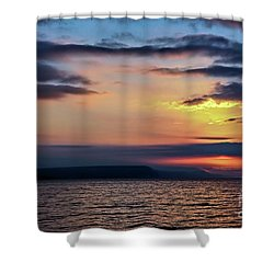 Weymouth Esplanade Sunrise Shower Curtain