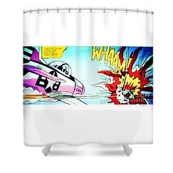 Whaam - Roy Lichtenstein  Shower Curtain