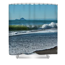 Shower Curtain featuring the photograph Whale Island by Werner Padarin