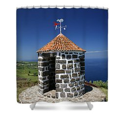 Whale Lookout Spot Shower Curtain by Gaspar Avila