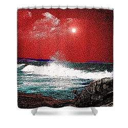 Whaleback At Peaks Island Maine Shower Curtain