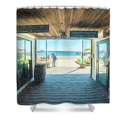 Whaler's Wharf Shower Curtain