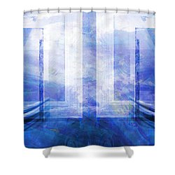 Whales Talking Shower Curtain