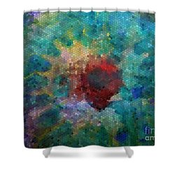 Shower Curtain featuring the digital art What A Bee Sees by Claire Bull