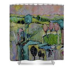 What A Bird Sees Shower Curtain by Sharon Furner