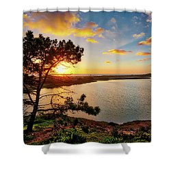 What A Glow At The Batiquitos Lagoon Shower Curtain