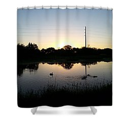 As The World Awakens Shower Curtain
