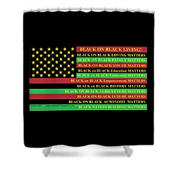 What About Black On Black Living? Shower Curtain