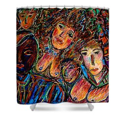 What Are You Looking At-17 Shower Curtain by Natalie Holland