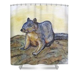 What Are You Looking At? Shower Curtain by Clyde J Kell
