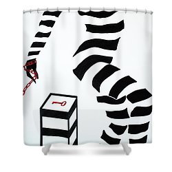 What Are You Waiting For? Shower Curtain