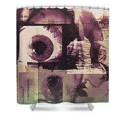 What Does The Eye See Shower Curtain by Cathy Anderson
