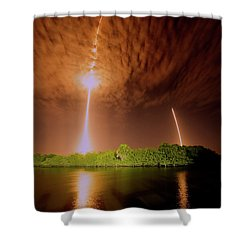What Goes Up Shower Curtain