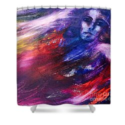 Shower Curtain featuring the painting What Hides  by Marat Essex