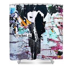 Shower Curtain featuring the photograph What Is ... by JoAnn Lense
