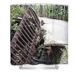 Shower Curtain featuring the photograph What Storms Can Do by Marie Neder