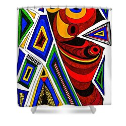 What The Eye Sees Shower Curtain by Sarah Loft