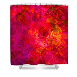 Shower Curtain featuring the digital art What The Heart Wants by Wendy J St Christopher