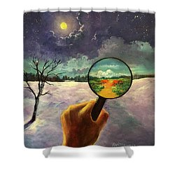 What We Choose To See Shower Curtain by Randy Burns