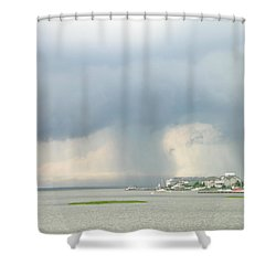 What's Coming? Shower Curtain