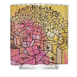 Shower Curtain featuring the painting What's Mine Is Yours by Nathan Rhoads