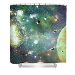 What's Out There Shower Curtain