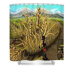 Wheat Field Day Dreaming Shower Curtain