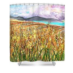 Wheat Landscape Shower Curtain