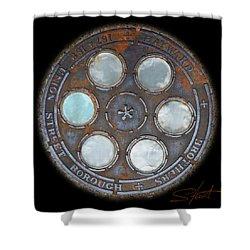 Wheel 2 Shower Curtain by Charles Stuart