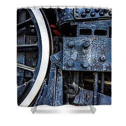Wheel In Black II Shower Curtain by Jae Mishra