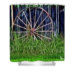 Shower Curtain featuring the photograph Wheel Of Fortune by EricaMaxine  Price