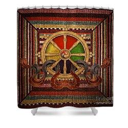 Wheel Of The Dharma Shower Curtain
