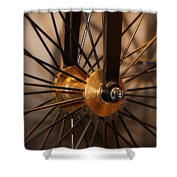 Wheel Spokes  Shower Curtain