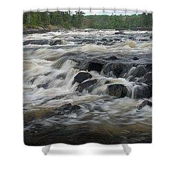 Wheelbarrow Falls Shower Curtain by Larry Ricker