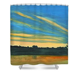 Wheeling Waterfront Shower Curtain